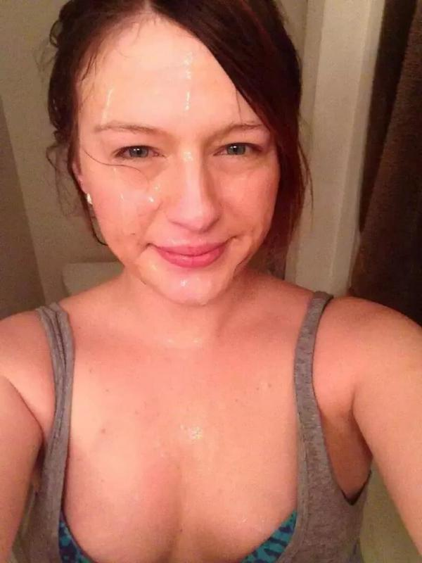 Cum face selfie female