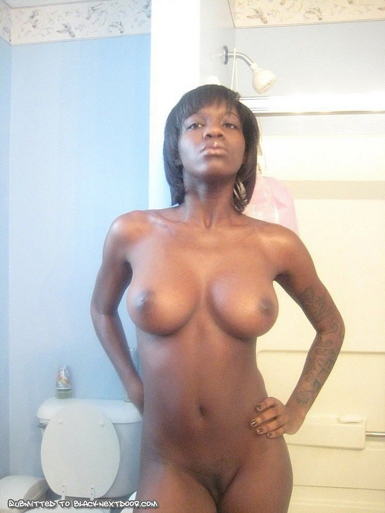 Black babe with nice tits