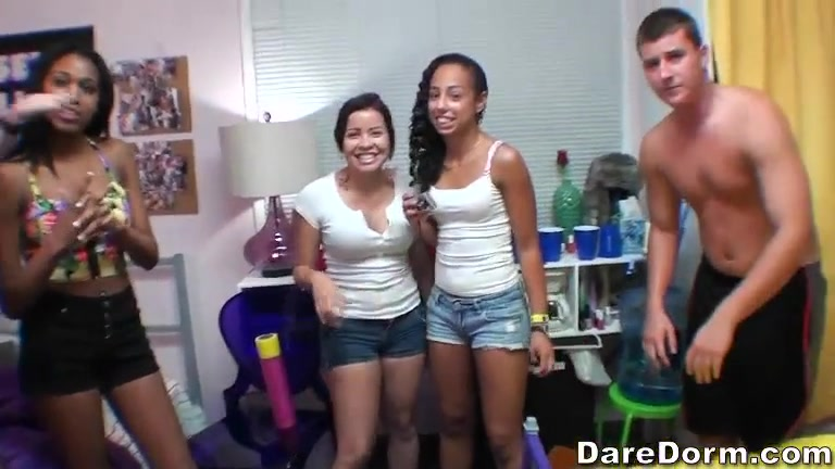 Hot young amateur sluts in Dare Dorm porn video